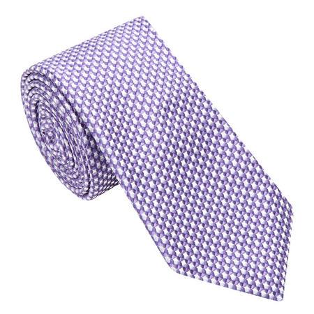 Pixel Houndstooth Tie Purple