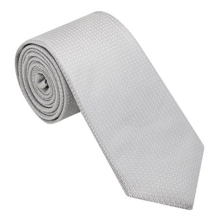 Textured Patterned Tie Grey