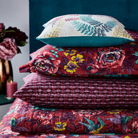 Oriental Peony Throw Red