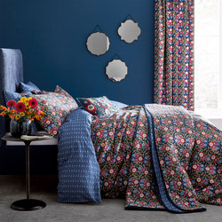 Primula Duvet Set Navy