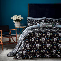 Gardenia Duvet Set Black