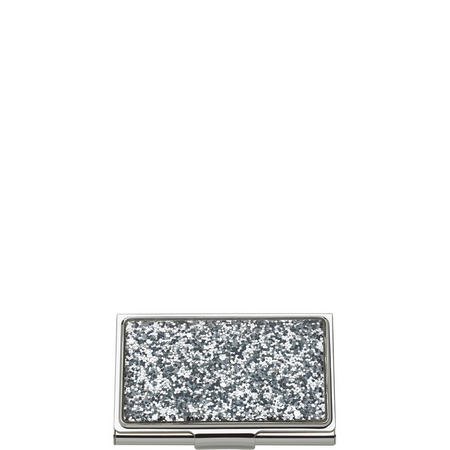 Simply Sparkling Silver Glitter Card Holder By Lenox