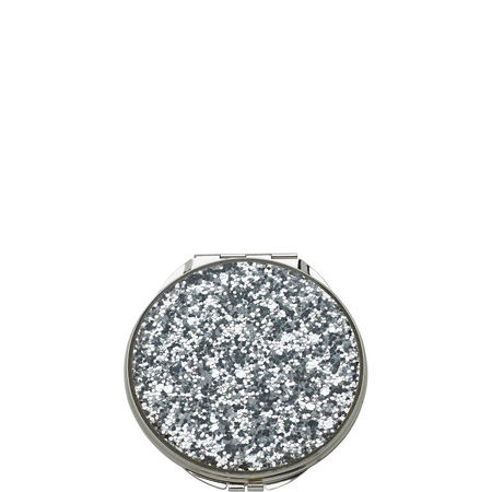 Simply Sparkling Silver Glitter Compact By Lenox