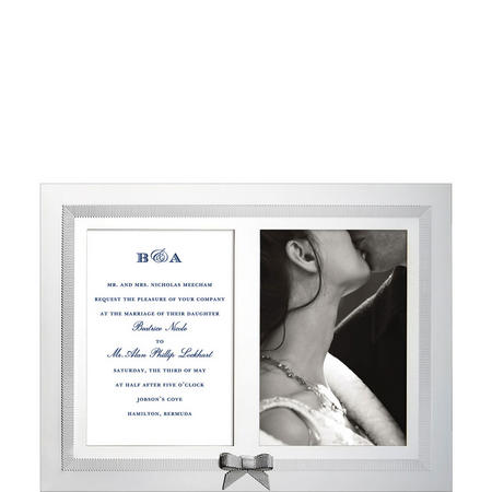 Grace Ave Double Invitation Photo Frame By Lenox