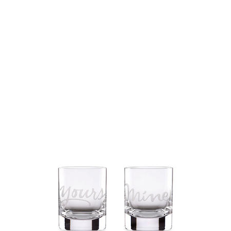 Mine & Yours 2-Piece Double Old Fashioned Glass Set By Lenox
