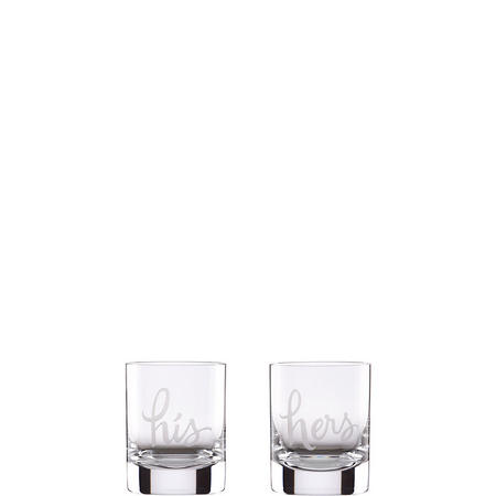 His & Hers 2-Piece Double Old Fashioned Glass Set By Lenox
