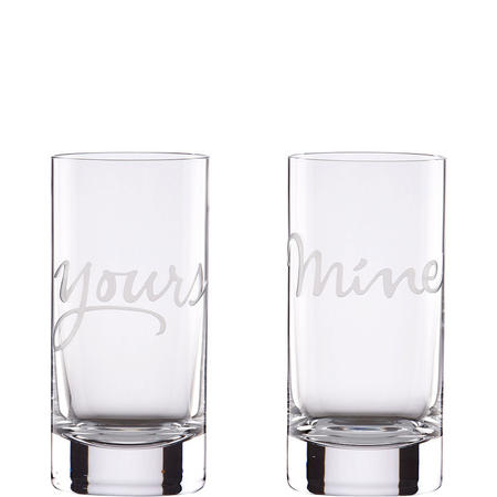 Mine & Yours 2-Piece Highball Glass Set By Lenox
