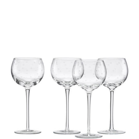 Larabee Dot 4-Piece Wine Glass Set By Lenox