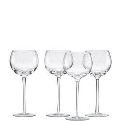 Larabee Dot 4-Piece Wine Glass Set By Lenox