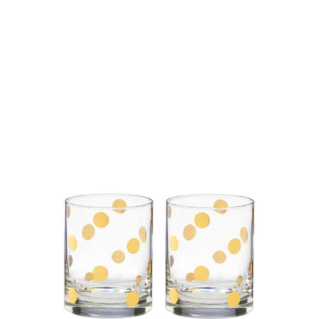 Pearl Place 2-Piece Double Old Fashioned Glass Set By Lenox