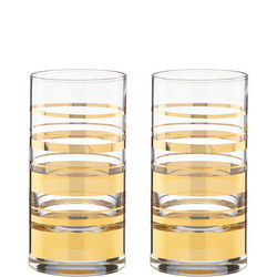 Hampton Street Stripe 2-Piece Highball Glass Set By Lenox
