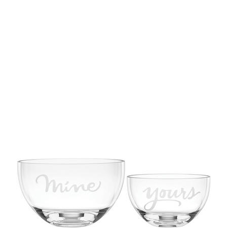 Two Of A Kind 2-Piece Mine & Yours Bowl Set By Lenox