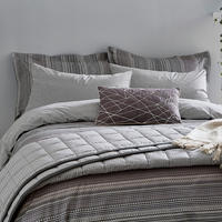 Blaze Duvet Set Grey