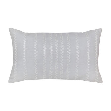 Etchings & Roses Cushion Silver-Tone
