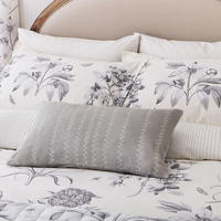 Etchings & Roses Standard Pillowcase Pair Silver-Tone