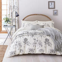 Ecthings & Roses Duvet Set Silver-Tone
