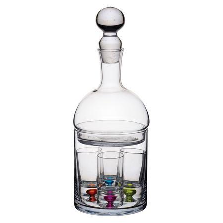 BarCraft Decanter & 6 piece Shot Glass Set Clear