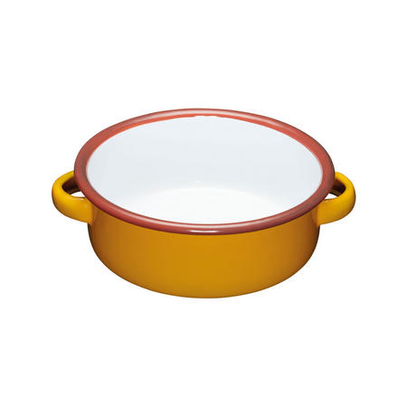 World of Flavours Enamel Serving Dish Yellow