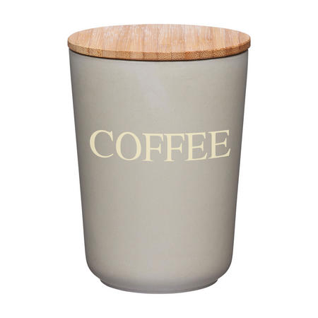 Natural Elements Bamboo Fibre Coffee Canister Brown