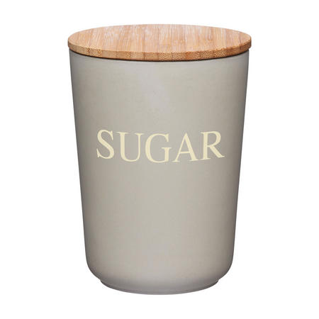 Natural Elements Bamboo Fibre Sugar Canister Brown
