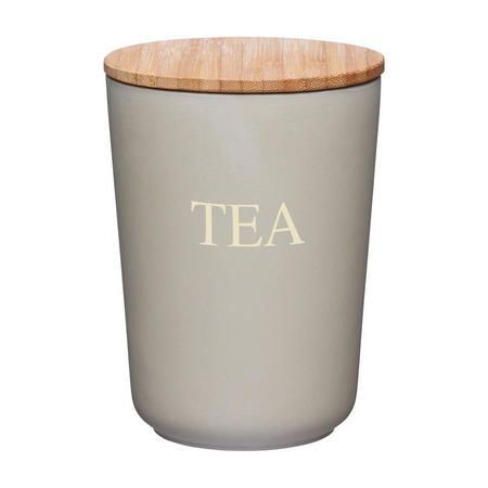 Natural Elements Bamboo Fibre Tea Caddy Brown