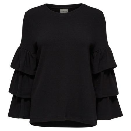 Randi Ruffle Sleeve Top Black