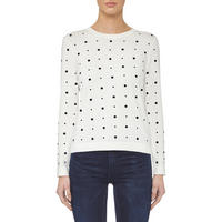 Polka Dot Sweater White