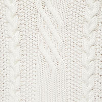 Textured Cable Knit Sweater Cream