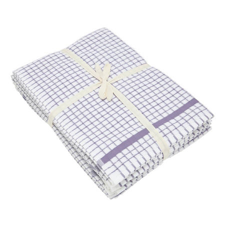 5 Pack Tea Towel Bale Purple