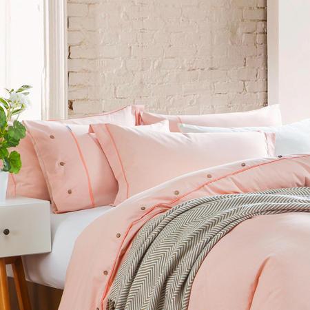 Lifestyle Check Housewife Pillowcase Pair Orange