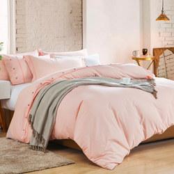 Lifestyle Check Coordinated Bedding Set Orange