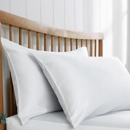 200 Thread Count Sateen Housewife Pillowcase Pair White