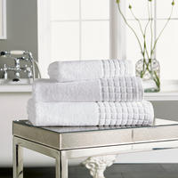 Hotel Combed Towel White