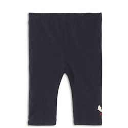 Babies Nautical Embroidered Legging Navy