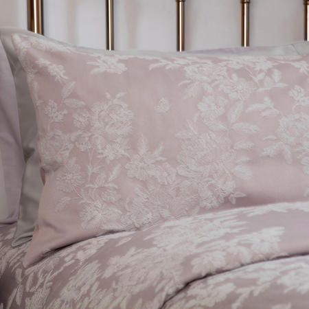Florence Jacquard Standard Pillowcase Pair Pink