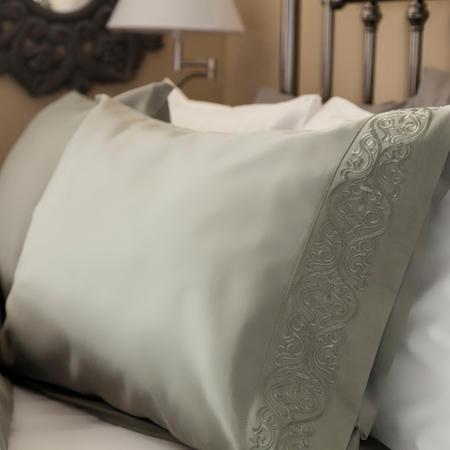 Felicity 300 Thread Count Standard Pillowcase Pair Grey