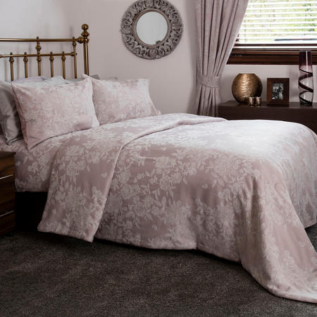 Florence Jacquard Bed Spread Pink