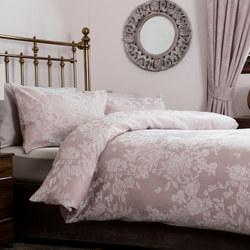 Florence Jacquard Duvet Set Pink