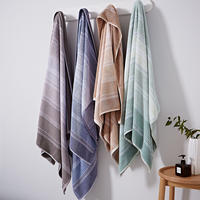 Cotton Soft Ombre Stripe Towel Natural