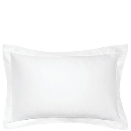 600 Thread Count Cotton Sateen Oxford Pillowcase White