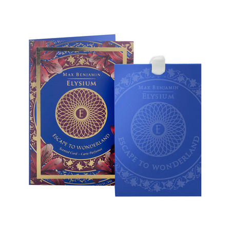 Escape to Wonderland Scented Card  Blue