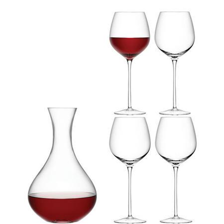 International Wine Red Glass x 4 Clear