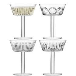 International Tatra Champagne/Cocktail Glass x 4  Clear