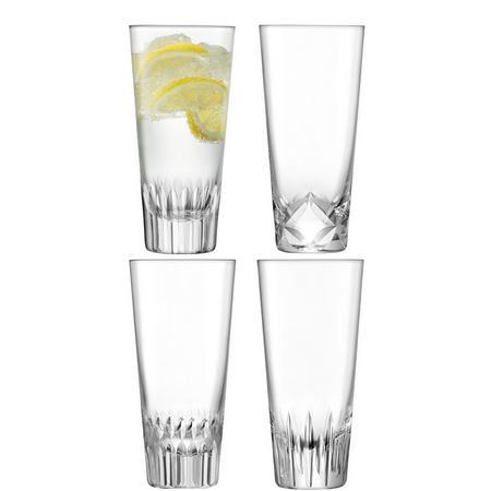 International Tatra Mixer Glass x 4 Clear