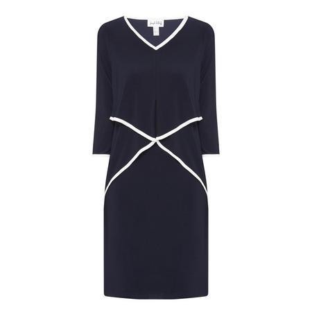 V-Neck Dress Navy