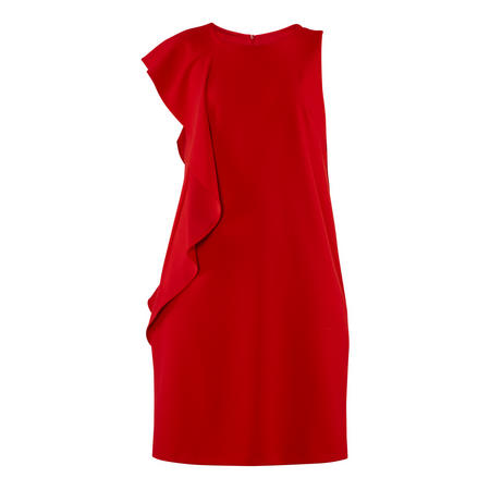 Frill Detail Dress Red