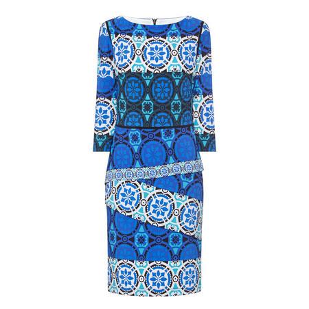 Patterned Dress Blue