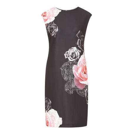 Rose Print Dress Multicolour