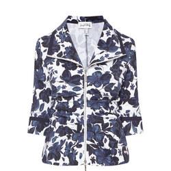 Floral Print Jacket Navy