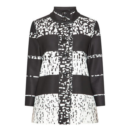 Contemporary Print Jacket Black